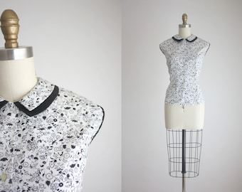1950s peter pan collar blouse