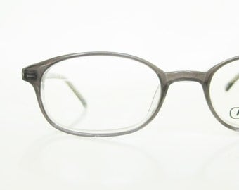 Vintage 1980s Grey Reading Glasses Womens Readers Indie Hipster Chic Horn Rim Retro Authentic Real 80s Eighties