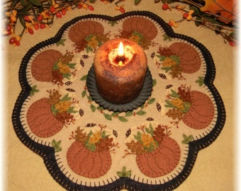 Fall's Bounty Penny Rug/Candle Mat DIGITAL PATTERN