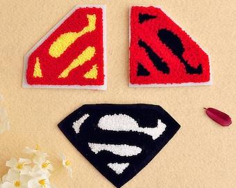Super man sew on Patch applique Sequin clothes patch appliques DIY decoration 3pcs/lot