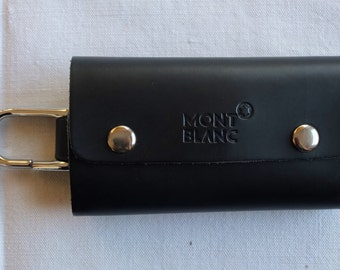 MONT BLANC Leather Key Chain
