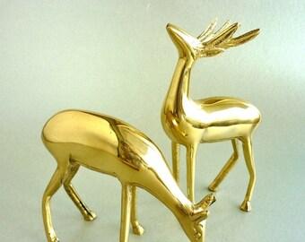Brass Deer and Doe
