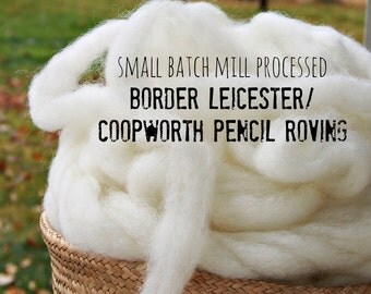 Border Leicester/Coopworth wool roving, 4 oz