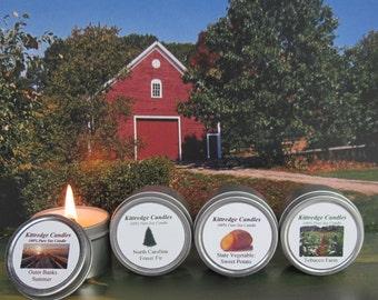 NORTH CAROLINA SAMPLER (four 2-oz soy candles)
