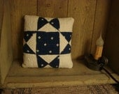 Antique 1930s Eight Point Star Quilt Mini Pillow