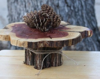 wedding cake tree stump stand rustic tree stump cake stand cupcake stand or by 26707