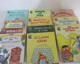 Sesame Street Books 1980s Set of 11