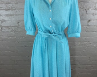 Vintage Bright Blue Dress