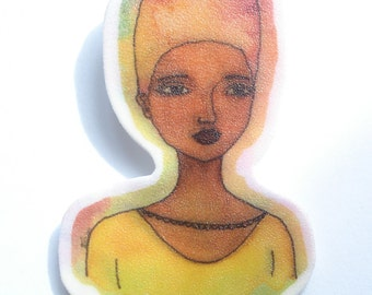 Grace African American Brooch - Large