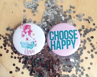 choose happy -- magnet set