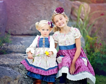 Girls Plum Headbands - m2m dresses- from Mellon Monkeys