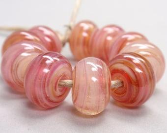 Bigger Rysy Swirls  - 10 Handmade Lampwork Beads SW 188