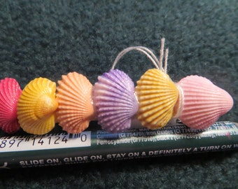 Multi-colored shell barrette