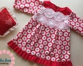 Sweet Valentines Day 18 months A Vintage Valentine lace baby toddler dress