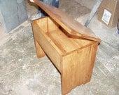 Flip Top Bench Solid Oak Stool