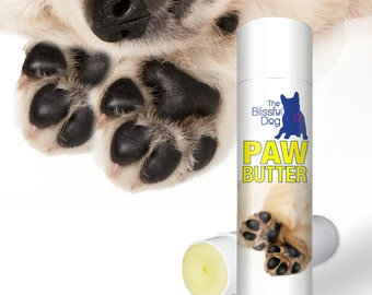 DOG PAW BUTTER All Natural Handcrafted Moisturizing Balm for Dry, Irritated, Rough Dog Paw Pads .50 oz in Easy to Apply Twist-Up Tube