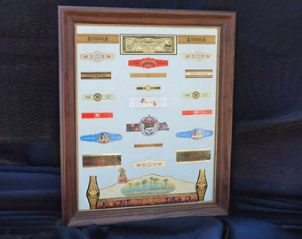 "Decorative Framed Cigar Bands and Labels: ""Newport"" #608.166"