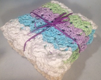 Crocheted-Washcloth/Dishcloth-Handmade-Crocheted-Gift For Him-Gift for Her-Cotton-Abotsford-BC- Canada