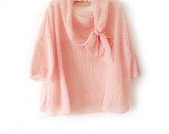 Loose knit sweater, Oversize knit sweater, Boho hippie sweater, Slouchy tunic, Summer sweater,  Grunge tunic, Fashion trend knits