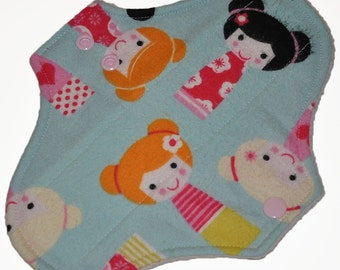 Liner Core- Geisha Dolls Flannel Reusable Cloth Pantyliner Pad- 8.5 Inches