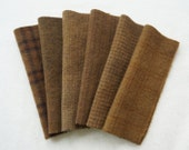 Brown Hand Dyed Felted Wool Fabrics - Wool Applique, Quilting, Sewing- Primitive Rug Hooking Wool - by Quilting Acres