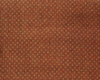 Rust with Gold Texture -  Felted Wool Fabric Yard in 100% Wool Perfect for Rug Hooking, Quilting, Sewing, and Applique by Quilting Acres