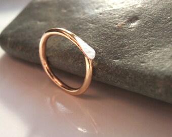 14k Gold 14g 14mm Cartilage Earring Hoop,  Daith, Septum