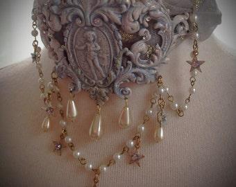Rococo Celestial Harlequin Whimsical Romantic Choker