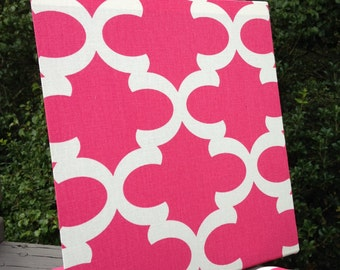 Magnetic Board, Desktop Organizer, Hot Pink Quatrefoil, Deskscape, Decorative Magnetic Board, Command Center, Office Decor, Magnetic Board,