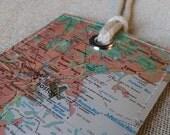 Boston Massachusetts original map luggage tag