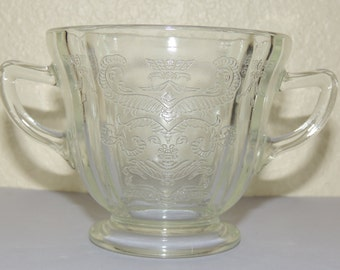 Crystal MADRID Sugar Bowl