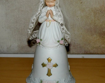 My First Communion BELL, Treasured Memories 1990 by Enesco