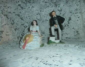 Scarlett O'Hara & Rhett Butler Gone With The Wind Figurines Avon 80's Vintage