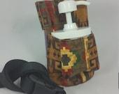 Massage Therapy Cream 4oz jar couch hip holster, Santa Fe print, black belt