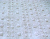Morgan Jones White Pops and Mini Buttonhole Vintage Chenille Fabric 18 x 24 Inches