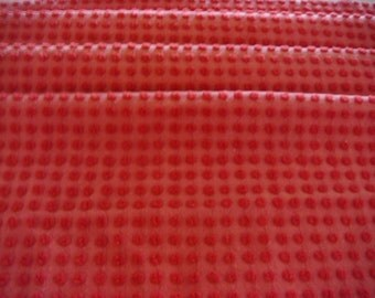 Gorgeous Morgan Jones Red Pops Vintage Cotton Chenille Fabric 12 x 24 Inches