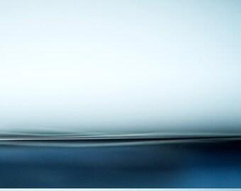 Blue Beautiful Sea, zen landscape, dreamy seascape, blue, white, minimalist photo, abstract seascape, coastal wall art, fine art print, art