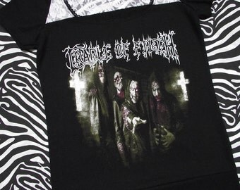 Cradle of Filth Women's T-Shirt // Size Small // Goth Music Alternative Horror Rock Metal