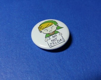 Not Zelda Pinback Button (or Magnet)