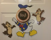 Angry Donald Duck and Chip and Dale Body Part Stateroom Door Magnets for Disney Cruise
