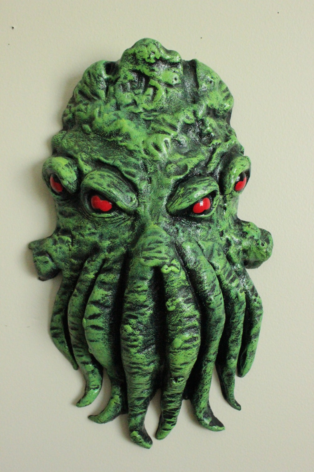 Wall Decoration With Masks : Green cthulhu mask wall decor