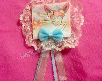 Candy Cloud Sylveon 2-way brooch/hair clip
