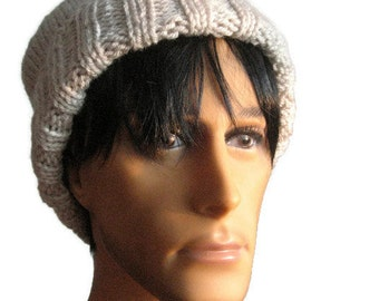 Knit Hat, Watchman Cap Slouchy Hat, Vegan Knits, The Alex Hat, Mens Fisherman Hat, Mens Slouchy Beanie, Mens Knit Hat