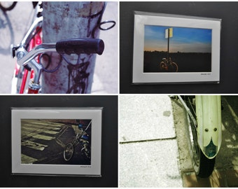 Matted Print 4x6 5x7 Bicycle Photos Bike Photography Art Indie Art Modern Minimal Simple Cambridge Boston MA Newport RI