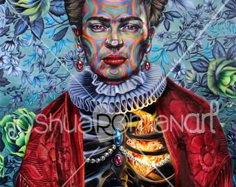 "14"" X 11"" Frida Khalo  - Print"