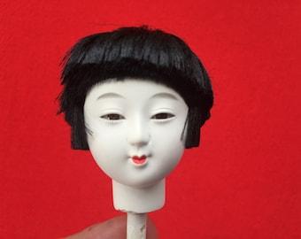 Japanese Doll Head Hina Matsuri Girl Doll D10-6 Hina Ningyo