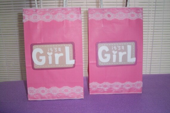 girl baby shower favor bags
