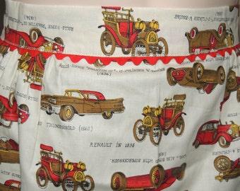 Antique Car Print Apron