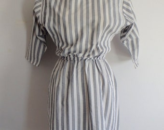 Dress Vintage Striped Turtleneck