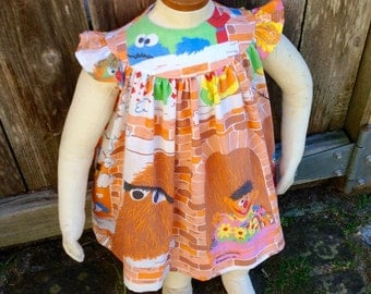 Sesame Street Baby Dress Recycled 6-9 mo